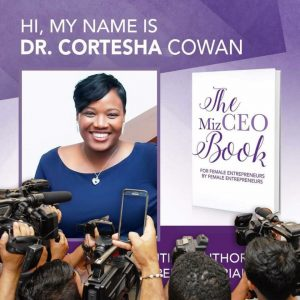 Dr. Cortesha Cowan Contributing Author in The Ms. CEO Book